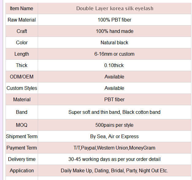 Double layer korea silk eyelash(KSC09)